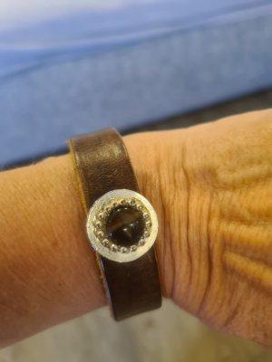 Armband braun mit 2 Steinen