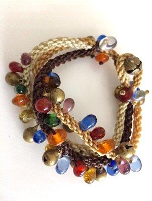 Armband bunt Ibiza Boho Style leuchtend Glasperlen