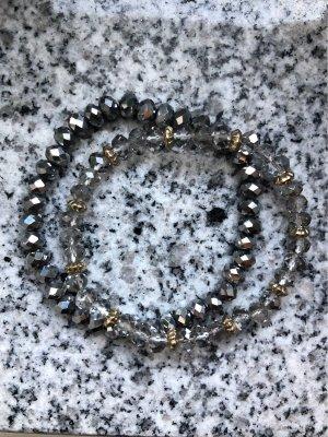Armband Duo • schillernde Perlen • NEU !