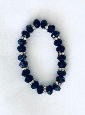 Vintage Bracelet de bras noir-argenté