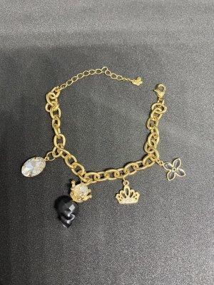 Armband Gold mit Anhängern