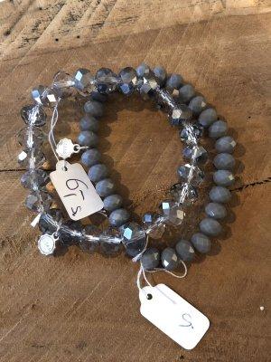 Armband grau Perlenarmband Lizas Neu