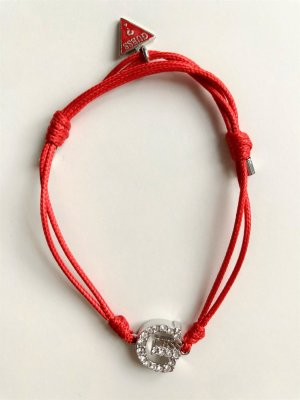 Guess Armband zilver-rood