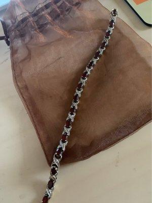 Bracelet silver-colored-bordeaux