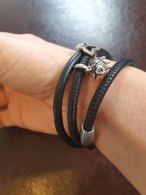Viventy Leather Bracelet black