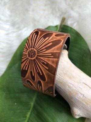 Handarbeit Bracelet en cuir brun-cognac cuir
