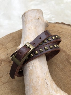unbranded Leather Bracelet brown-bronze-colored leather