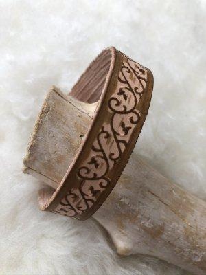 unbranded Bracelet en cuir bronze-rose chair cuir