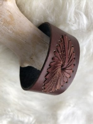 unbranded Leather Bracelet brown-silver-colored leather