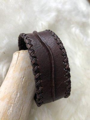 Handmade Braccialetto di cuoio marrone scuro Pelle