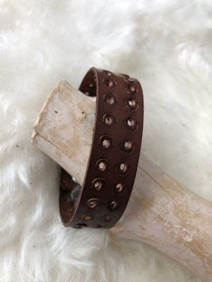 Handmade Leather Bracelet brown leather