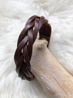 Handmade Skórzane ozdoby na ręce  brązowy Skóra