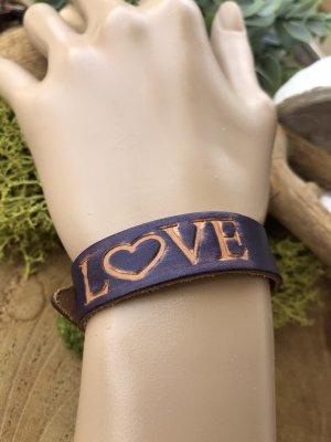 Handmade Bracelet en cuir rouge mûre-argenté cuir