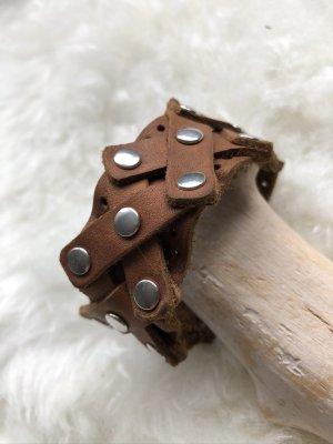handmade Bracelet en cuir cognac cuir