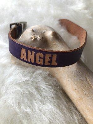 unbranded Bracelet en cuir violet foncé cuir