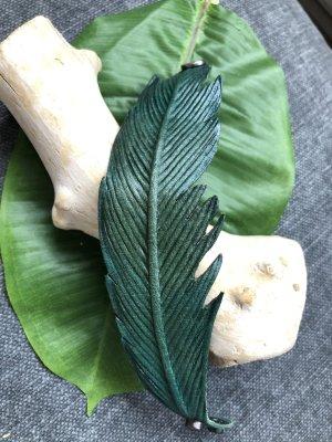 handmade Bracelet en cuir vert forêt cuir
