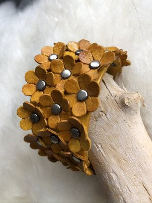 unbranded Bracelet en cuir orange doré cuir