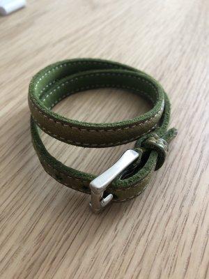Armband Leder Grün Fausto Colato