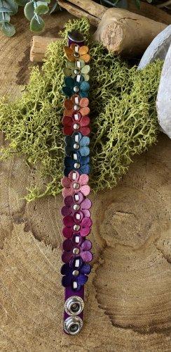 Handmade Brazalete de cuero multicolor Cuero