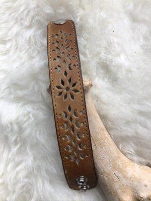 handmade Bracelet en cuir marron clair-brun sable cuir