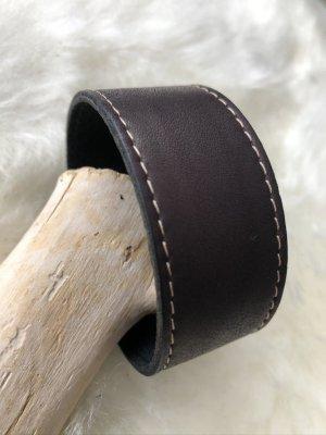 Handmade Leather Bracelet black brown leather