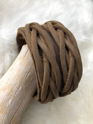 Handmade Skórzane ozdoby na ręce  jasnobrązowy Skóra