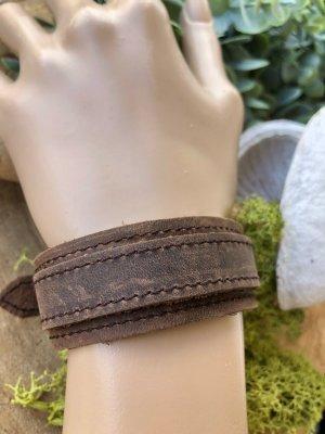 Handmade Brazalete de cuero marrón claro-marrón Cuero