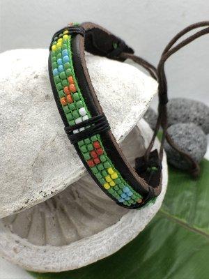 Leather Bracelet green leather
