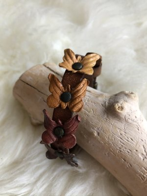 unbranded Bracelet en cuir orange clair-brun cuir