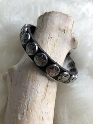 Handmade Skórzane ozdoby na ręce  czarno-brązowy-srebrny Skóra