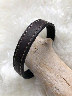 Handmade Skórzane ozdoby na ręce  czarno-brązowy Skóra