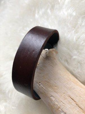 Handmade Leather Bracelet dark brown-brown leather