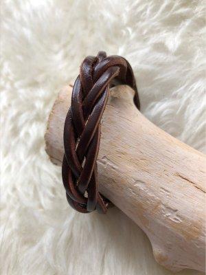 Handmade Skórzane ozdoby na ręce  ciemnobrązowy Skóra