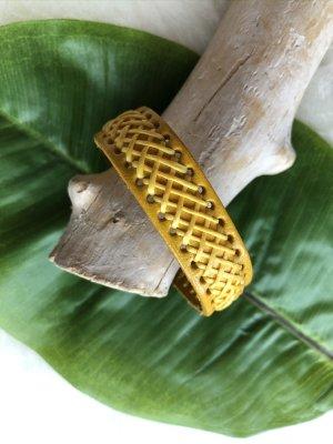 Handmade Skórzane ozdoby na ręce  żółty Skóra
