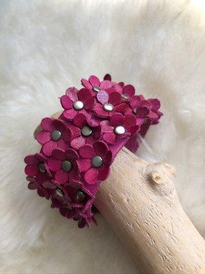 unbranded Bracelet en cuir violet cuir