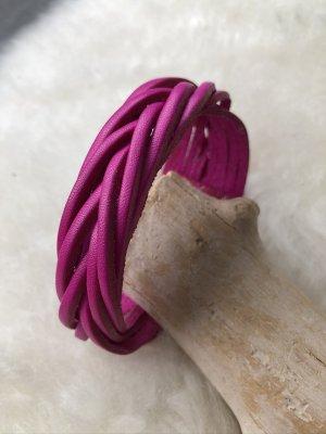 Handmade Braccialetto di cuoio viola Pelle