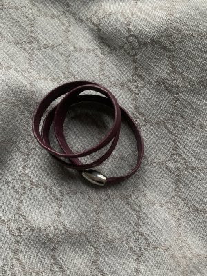 xen Bransoletka srebrny-brązowo-czerwony Skóra