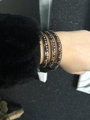 Armband Leomuster  braun schwarz Schmuck