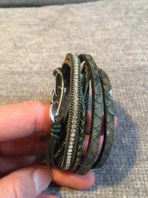 Armband mit Blatt mit Magnetverschluss