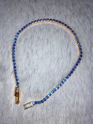 Bracelet en or doré-bleu