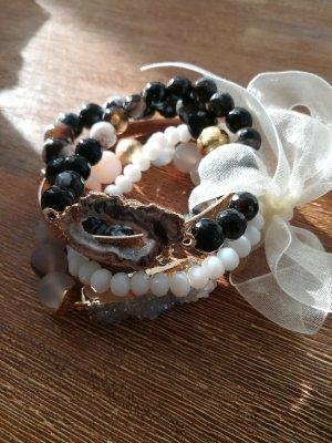 Armband mit Drusen Stein, Naturstein, Handmade