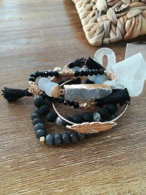 Armband mit Drusen und Natursteinen, Handmade