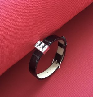 Vintage Bransoletka czarny-srebrny