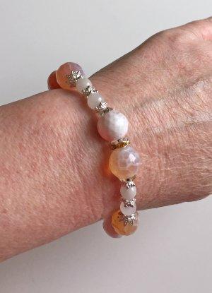Armband mit Feuerachat und Jade