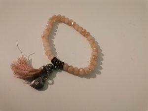 Bracciale charm rosa pallido