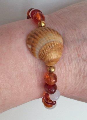 Armband mit Herzmuschel, 19 cm lang