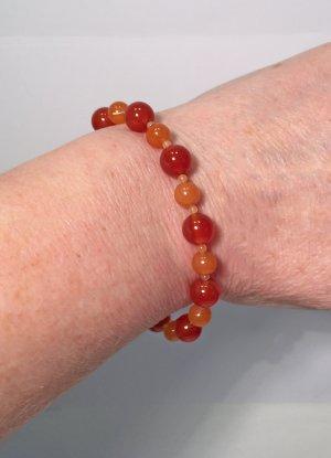 Armband mit Karneol und Aventurin, 19 cm lang