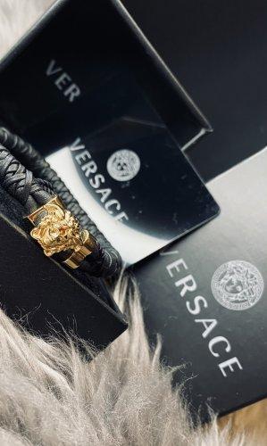 Versace Braccialetto sottile nero-oro