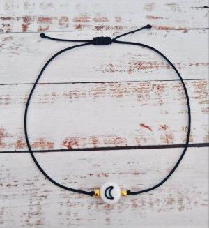 Armband mit schwarzem Halbmond NEU und größenverstellbar