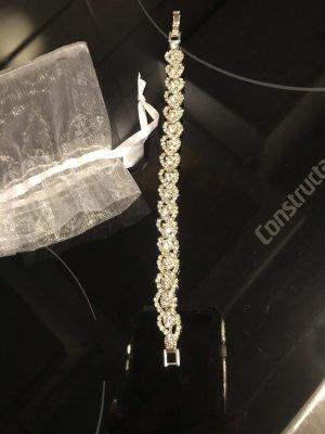 Brigitte Bardot Armband wit-zilver